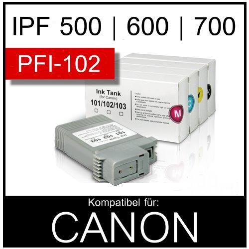Tintenpatronen-Canon-IPF-500-510-600-605-650-655-700-710-750-755
